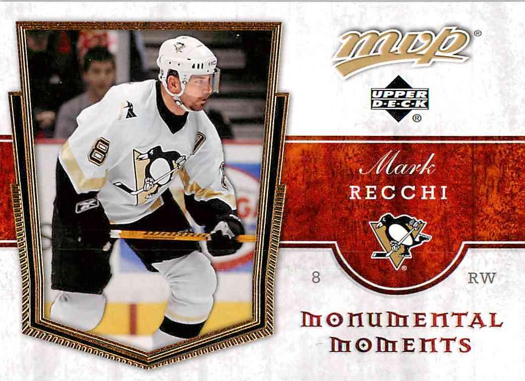 2007-08 Upper Deck Mvp Mark Recchi #MM6 card front image