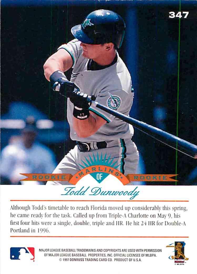1992 Ballstreet Todd Durwoody #347 card back image