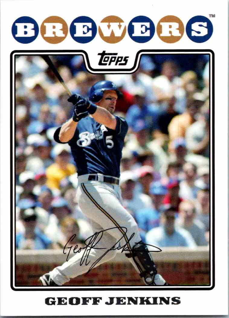 2008 Topps Geoff Jenkins #206 card front image
