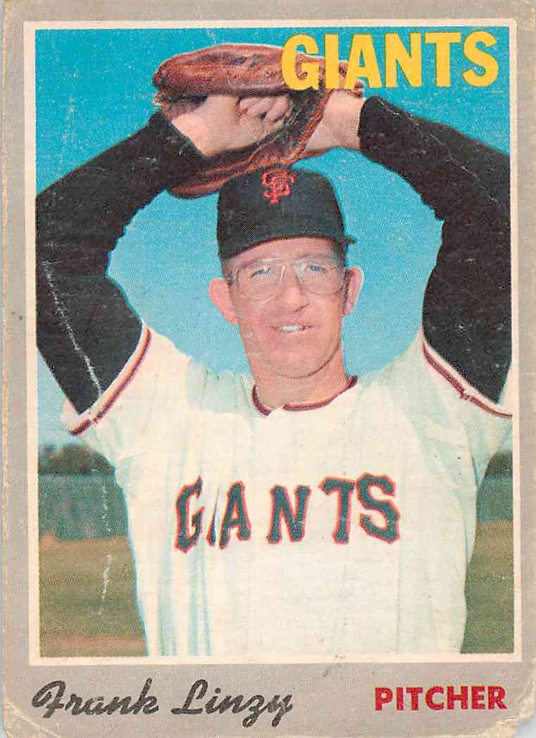 1970 Topps Frank Linzy #77 card front image