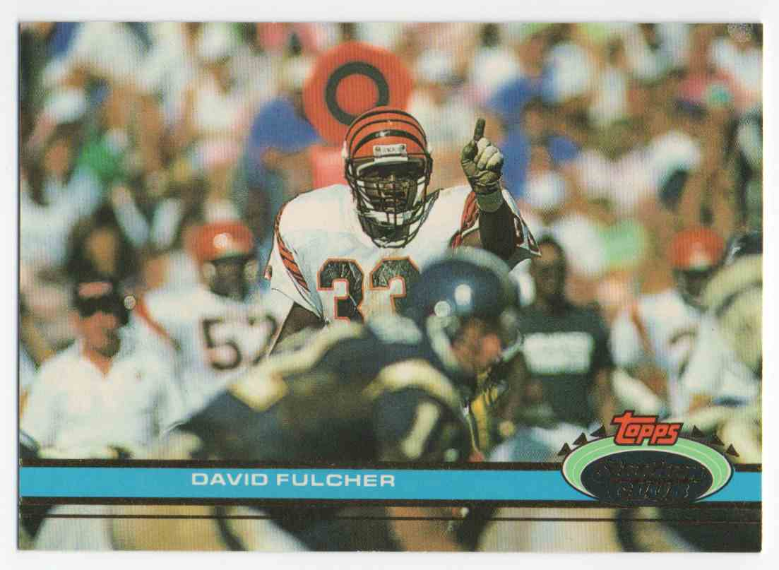 1991 Stadium Club David Fulcher #301 card front image