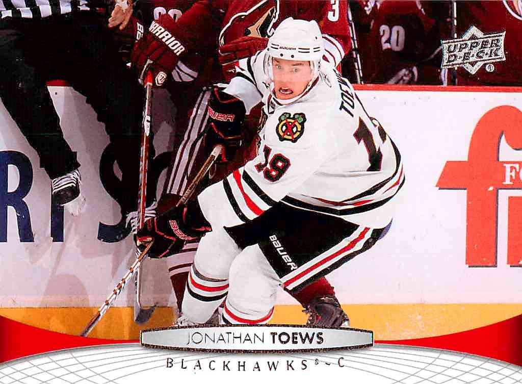2011-12 Upper Deck Series 1 Jonathan Toews #160 card front image