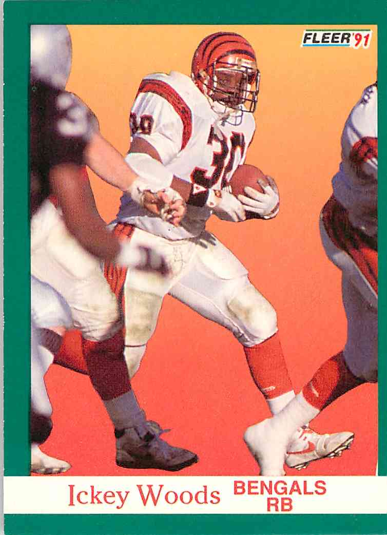 1991 Score Ickey Woods #28 card front image