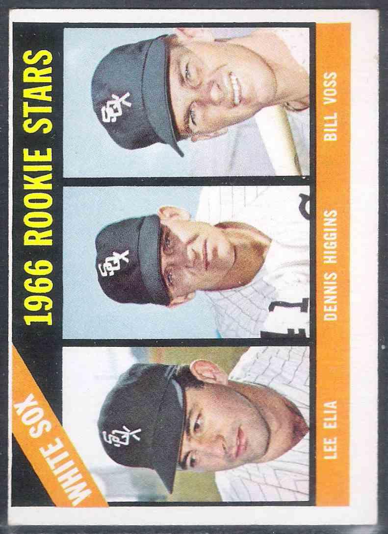 1966 Topps Lee Elia Dennis Higgins Bill Voss #529 card front image