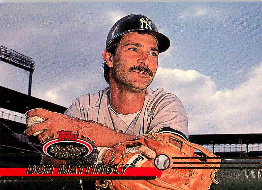 1993 Topps Stadium Club Don Mattingly #557 card front image