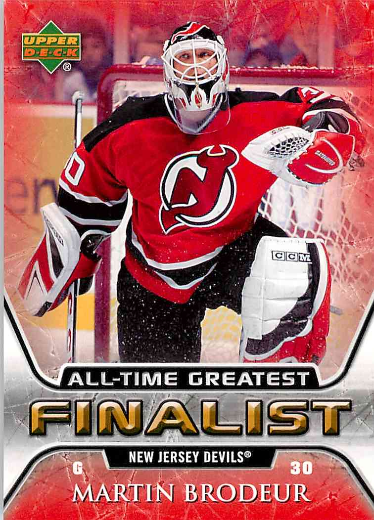 2005-06 Upper Deck All-Time Greatest Martin Brodeur #35 card front image
