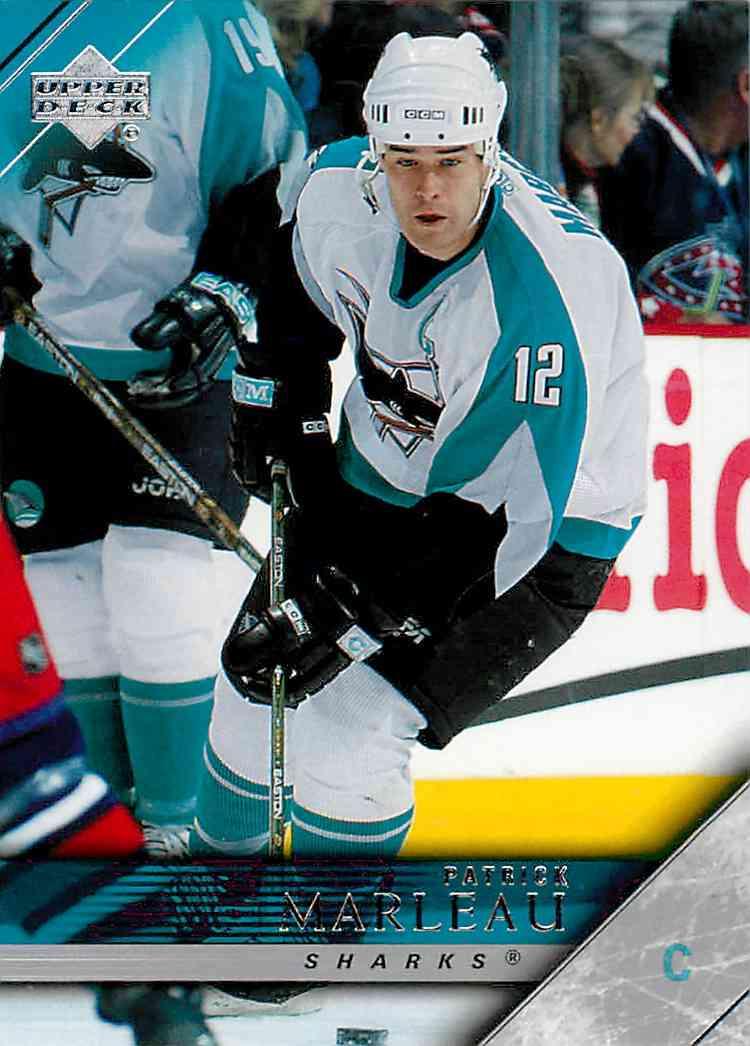 2005-06 Upper Deck Patrick Marleau #404 card front image