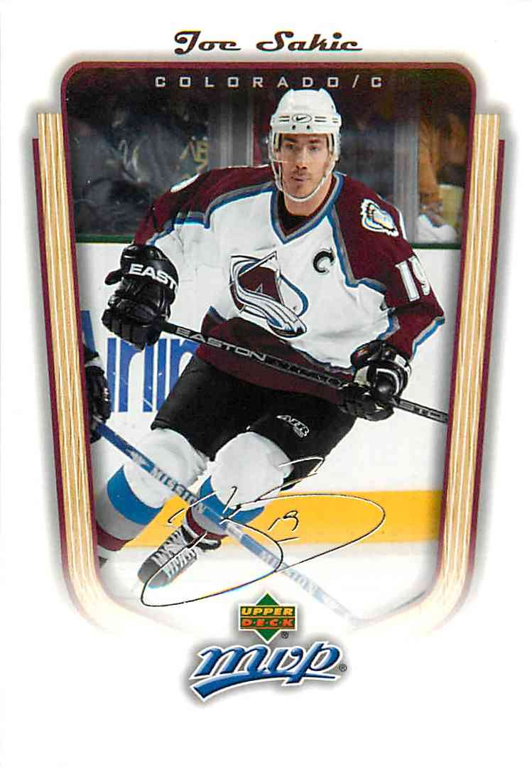 2005-06 Upper Deck Mvp Joe Sakic #438 card front image