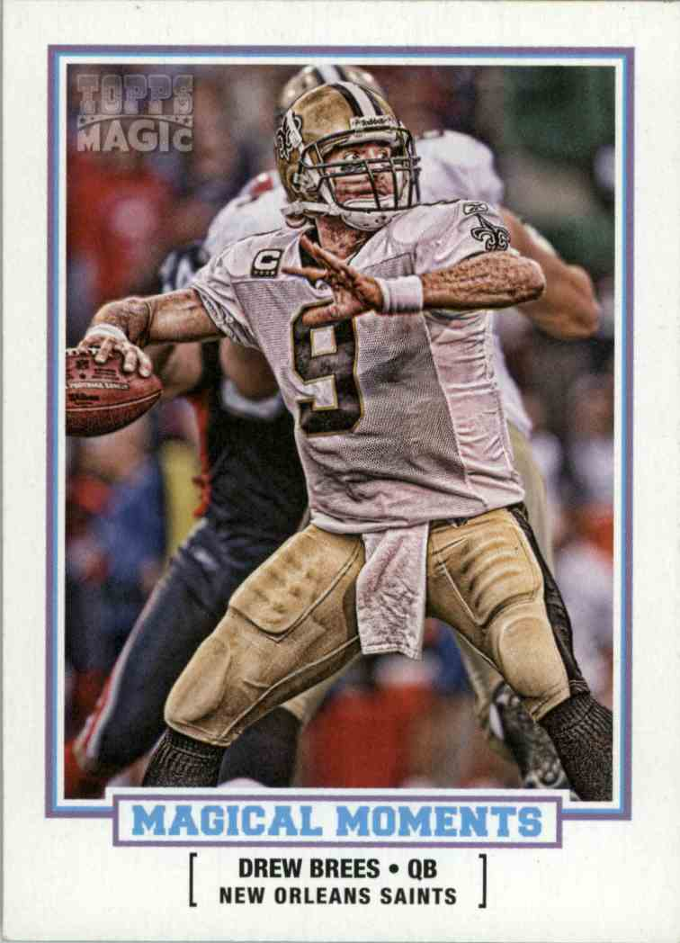 2010 Topps Magic Drew Brees #MM16 card front image