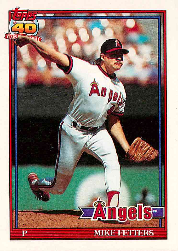 1991 Topps Mike Fetters #477 card front image