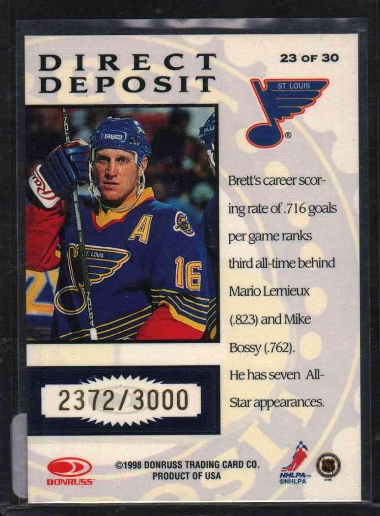 1998-99 Donruss Priority Brett Hull #23 card back image