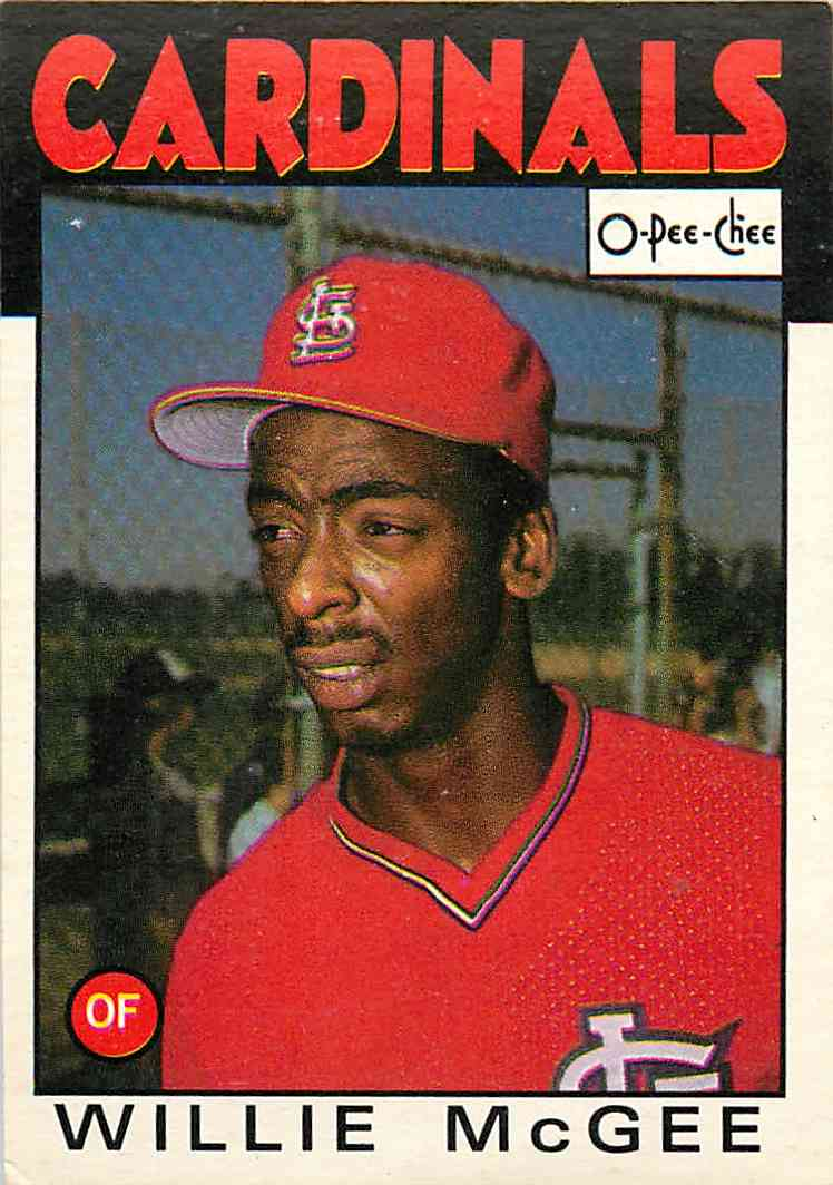 1985 O-Pee-Chee Willie Mcgee #117 card front image