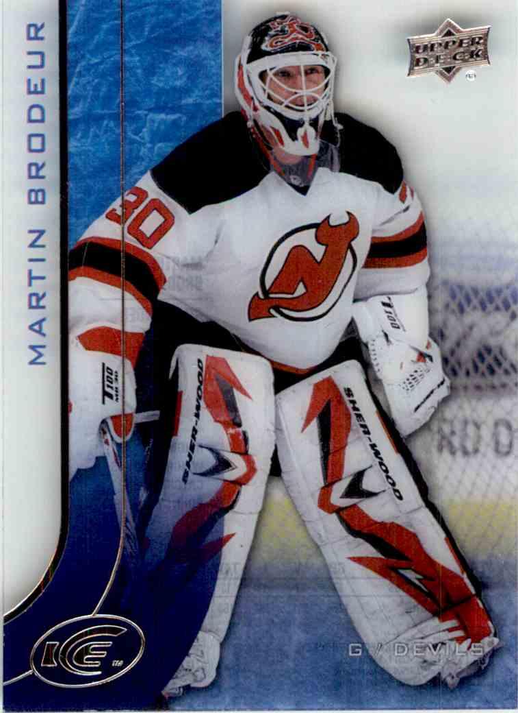2015-16 Upper Deck Ice Martin Brodeur #91 card front image