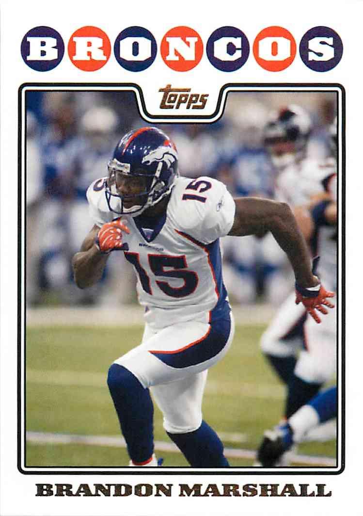 2008 Topps Brandon Marshall #131 card front image