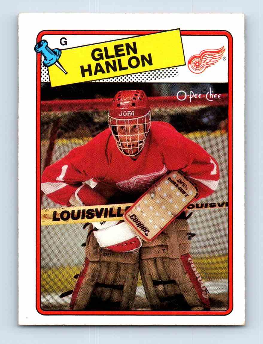 1988-89 O-Pee-Chee Glen Hanlon #150 card front image
