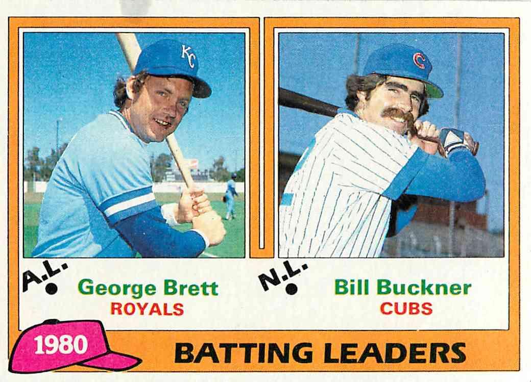 1981 Topps George Brett, Bill Buckner #1 card front image