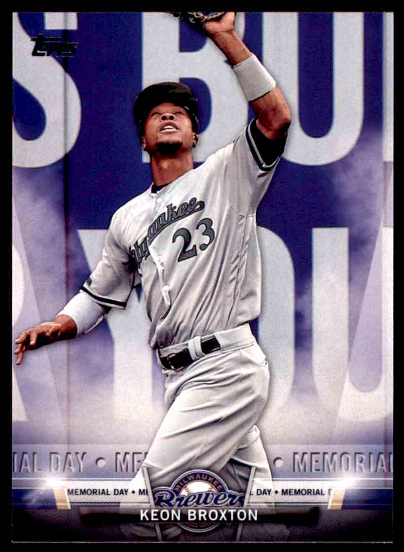 f89280054aa 2018 Topps Salute Keon Broxton - Milwaukee Brewers  TS-56 card front image