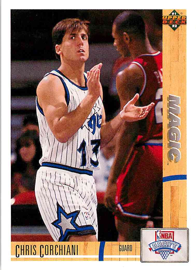 1991-92 Upper Deck Chris Corchiani #17 card front image