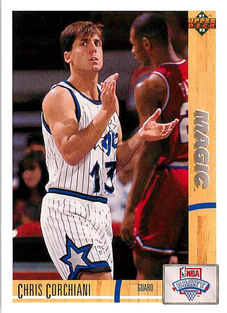 1991-92 Upper Deck Chris Corchiani #17 card front image