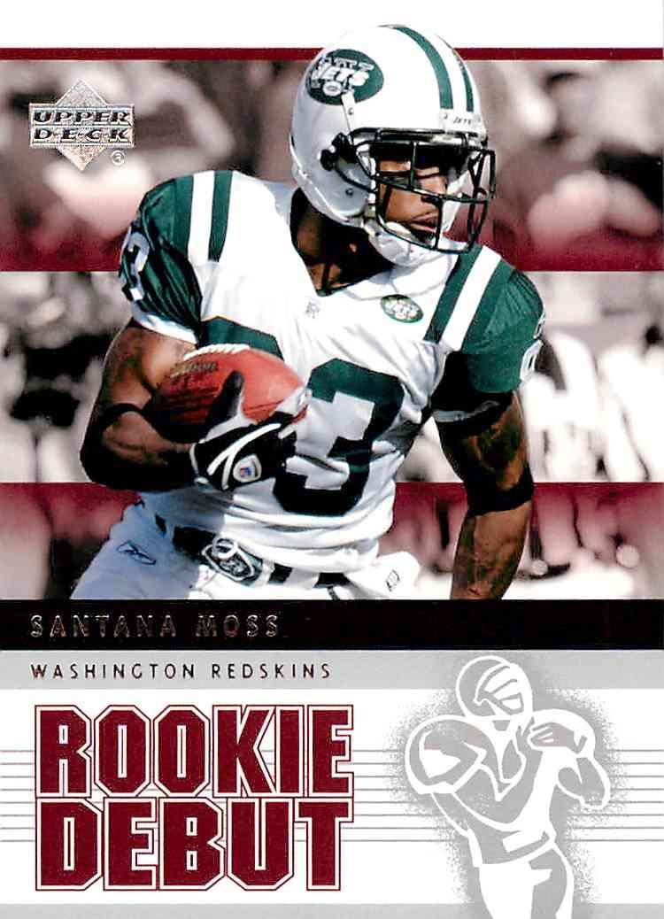 2005 Nfl Rookie Debut Santana Moss #69 card front image