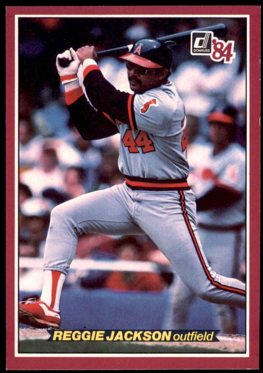 1984 Donruss Action All Stars Oversized Reggie Jackson 36 On