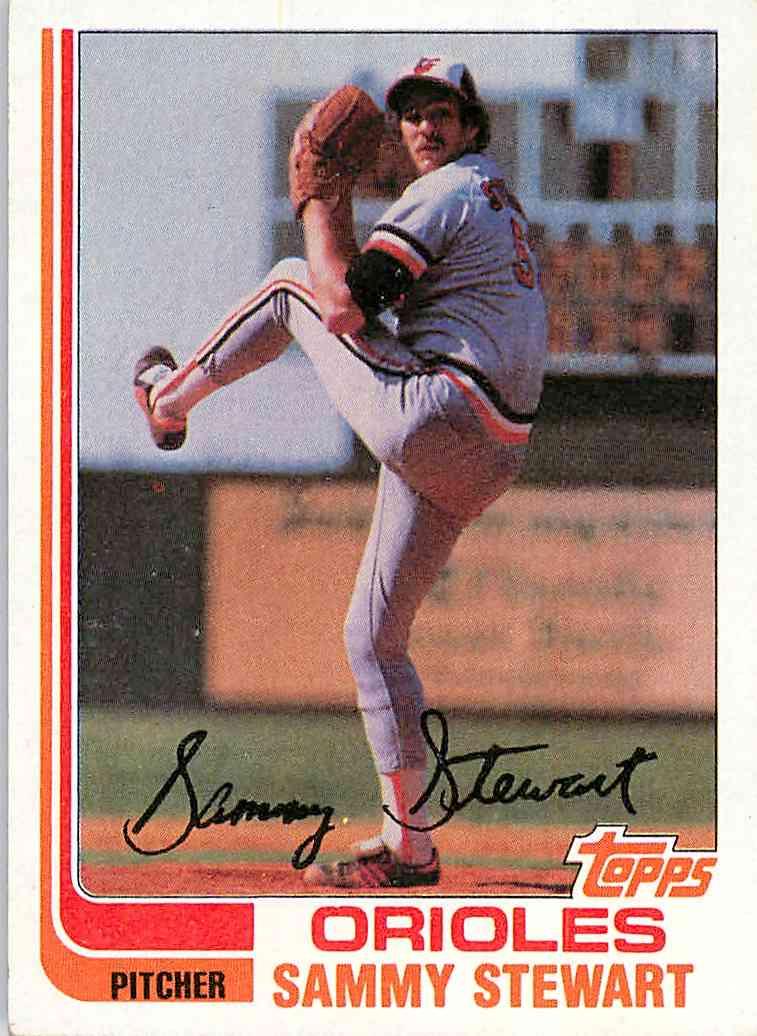 1982 Topps Sammy Stewart #679 card front image