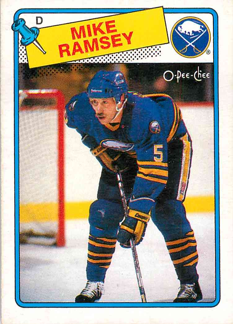 1988-89 O-Pee-Chee Mike Ramsey #133 card front image