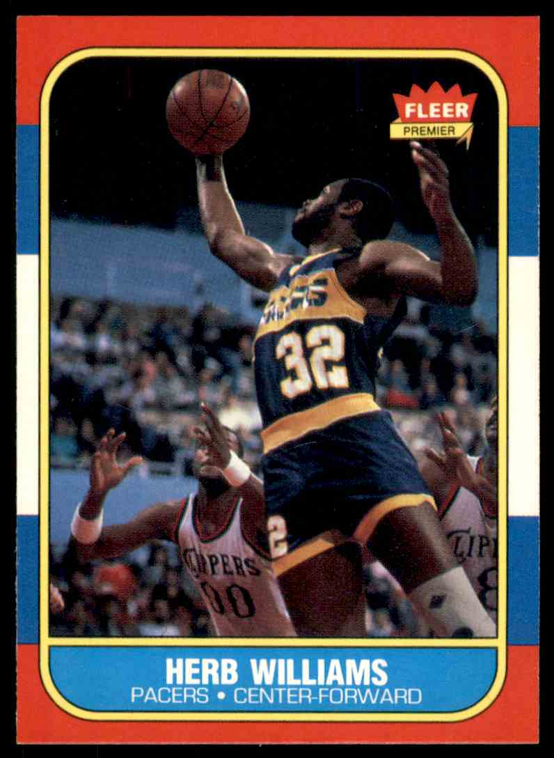 1986-87 Fleer Herb Williams-2 #125 OF 132 card front image