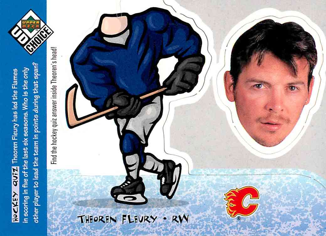 1998-99 Upper Deck Choice Mini Bobbing Head Theoren Fleury #BH25 card front image