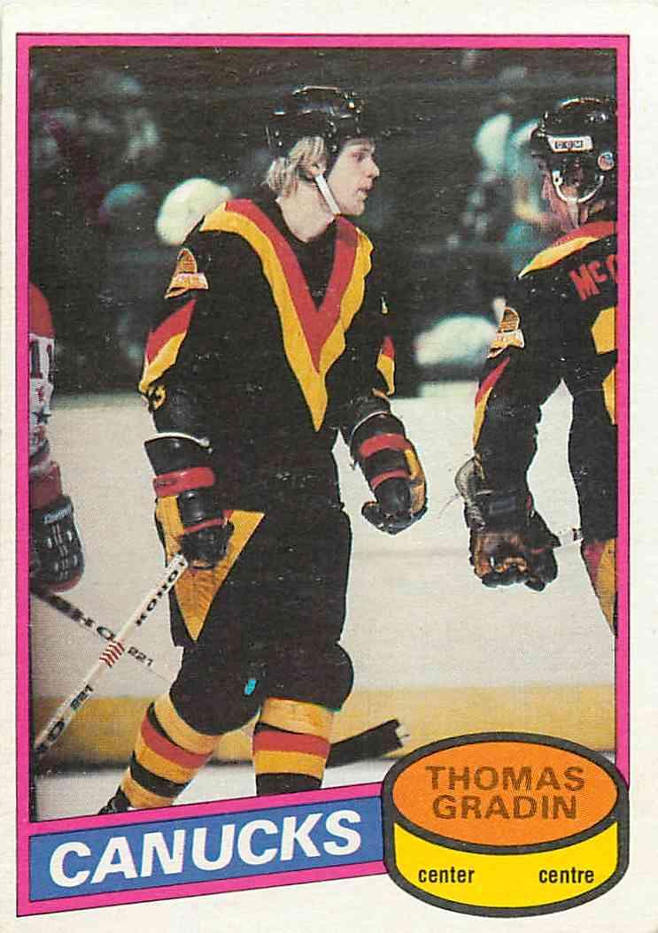 1980-81 O-Pee-Chee Thomas Gradin #241 card front image