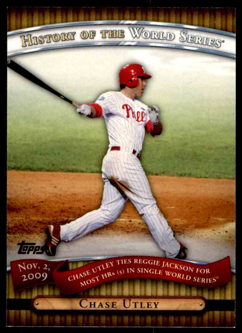 2010 Topps History Of The World Series Chase Utley #HWS24 card front image