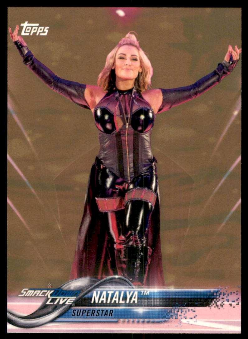 2018 Topps Wwe Bronze Natalya #66 card front image