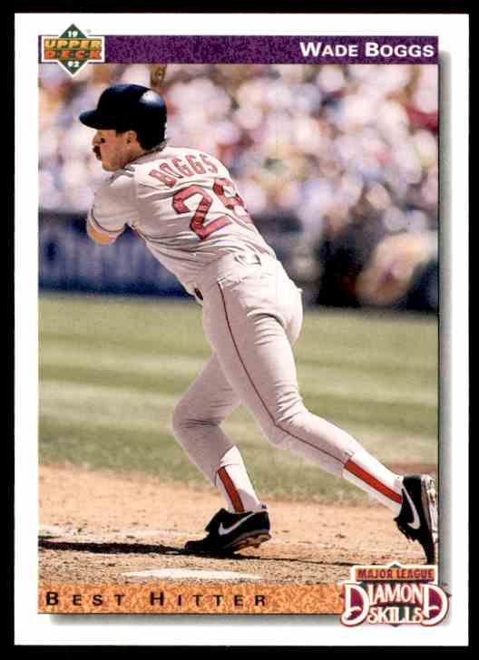 1992 Upper Deck Wade Boggs #646 card front image