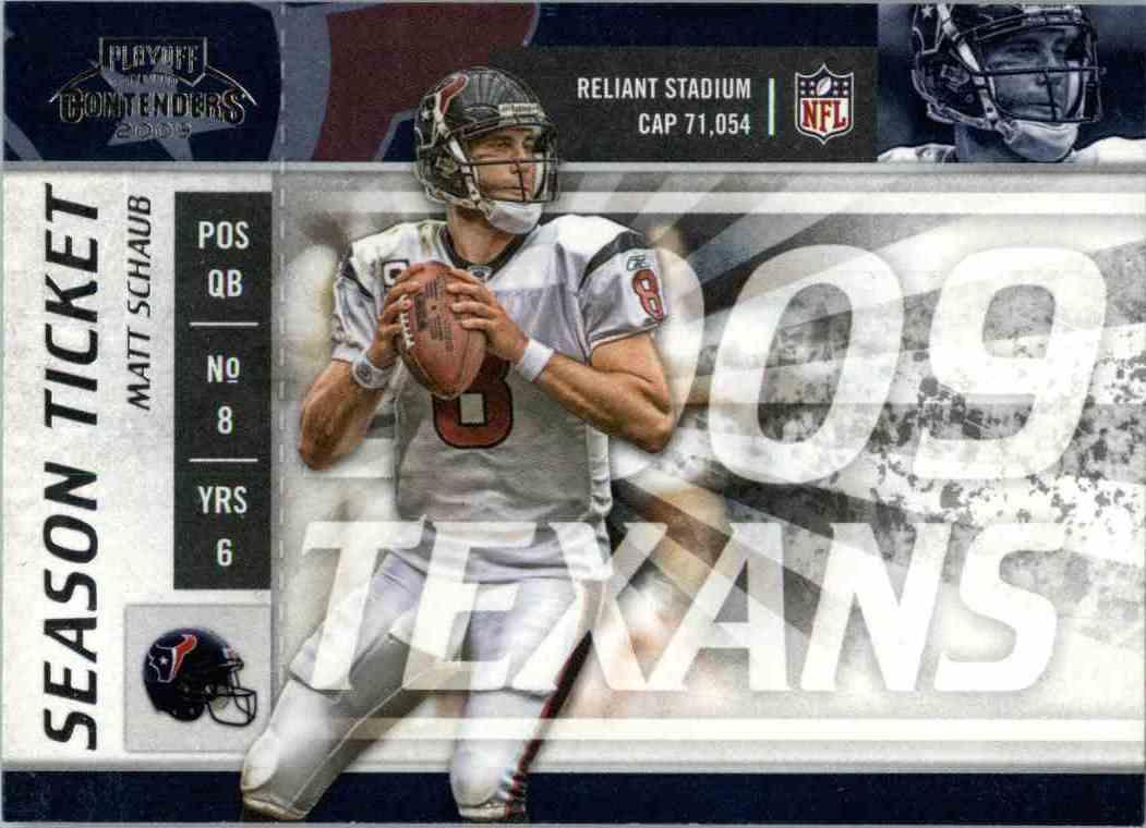 2009 Playoff Contenders Matt Schaub #40 card front image