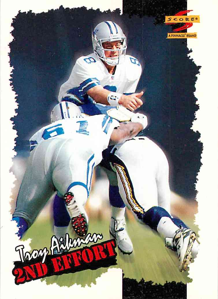 1996 Pinnacle Score Troy Aikman #250 card front image