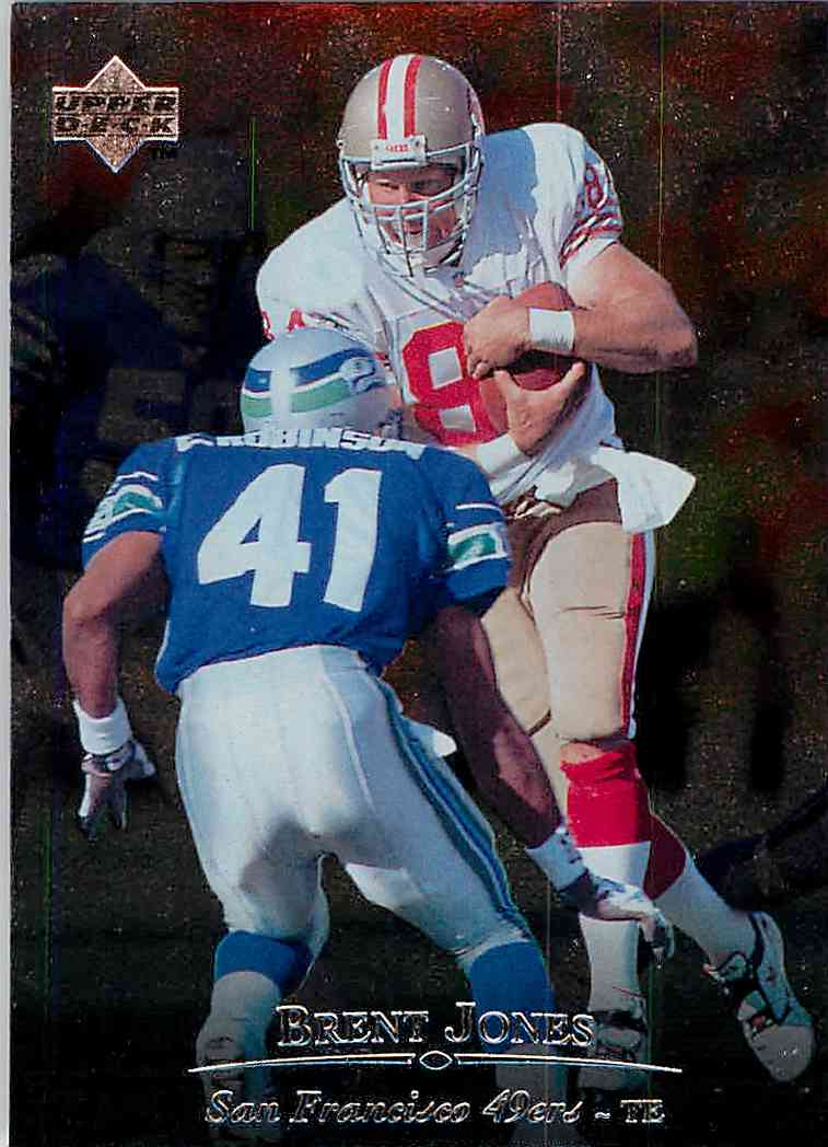 1996 Upper Deck Silver Brent Jones #25 card front image