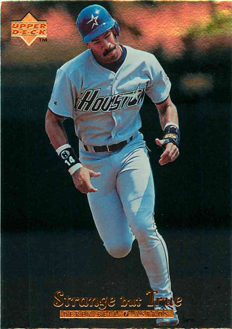 1996 Upper Deck Strange But True Derek Bell #420 card front image