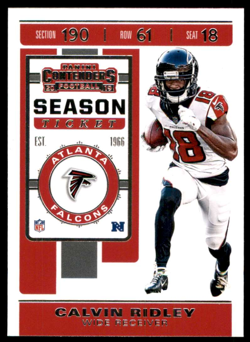 2019 Panini Contenders Calvin Ridley #86 card front image