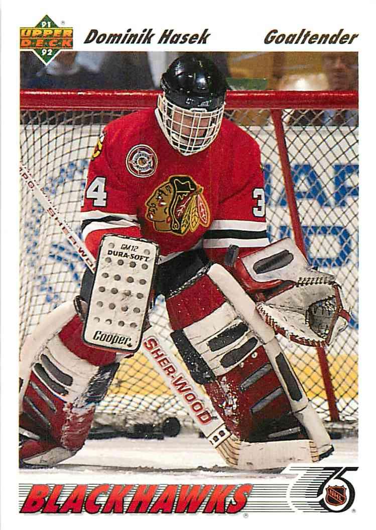 1991-92 Upper Deck Dominik Hasek #335 card front image