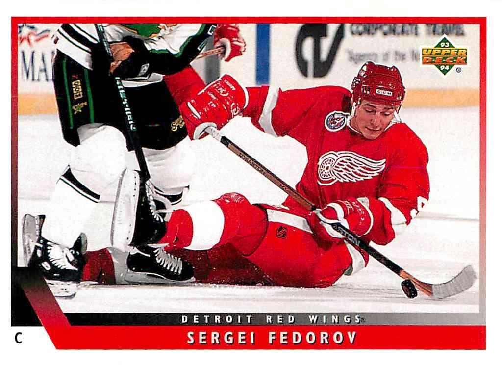 1993-94 Upper Deck Sergei Fedorov #171 card front image