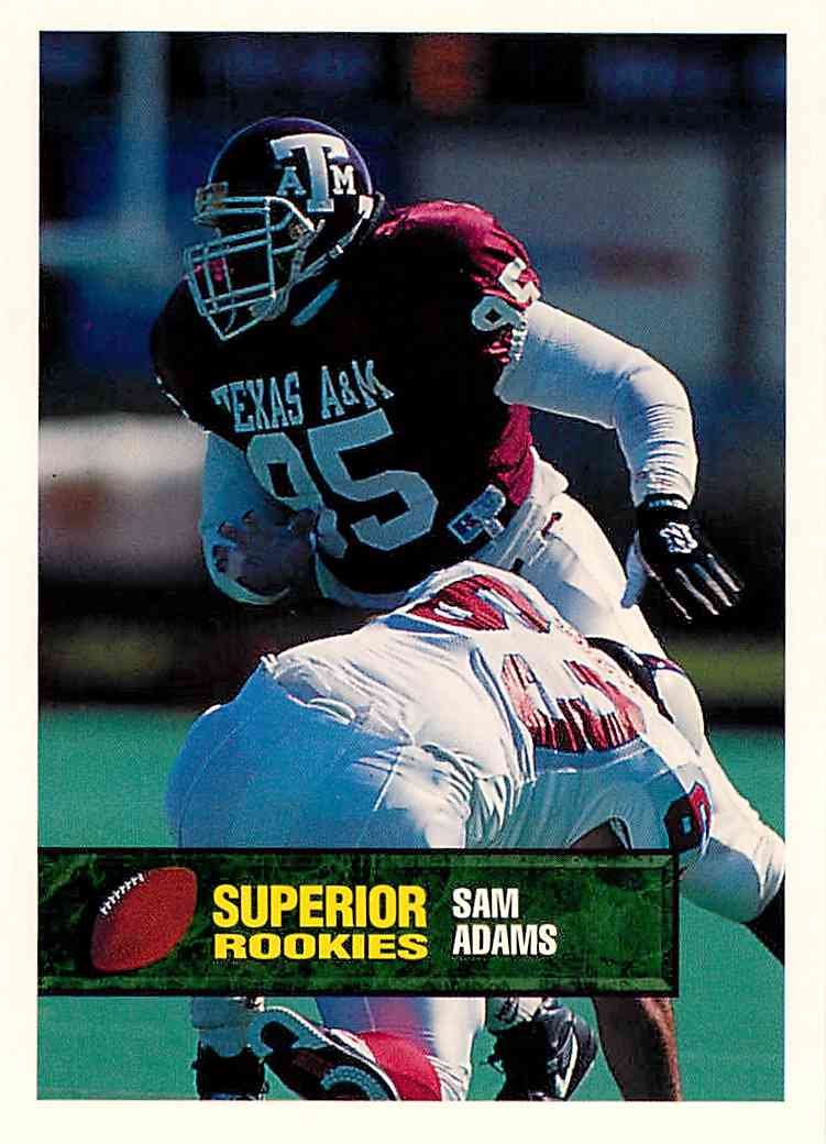 1993 Superior Rookies Sam Adams #59 card front image