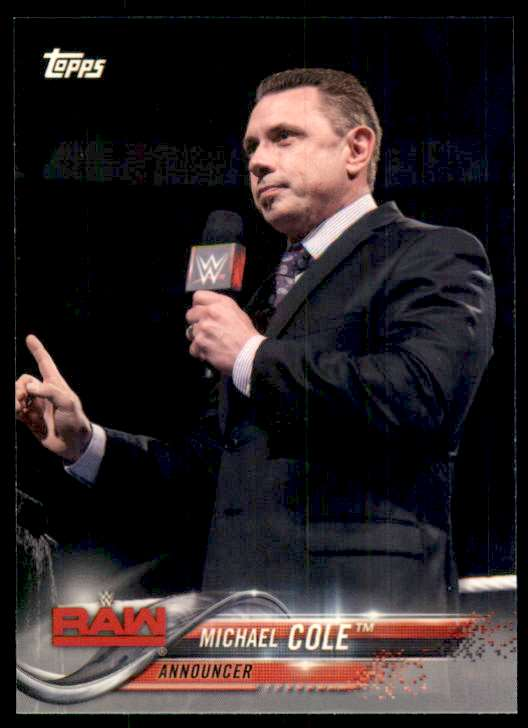 2018 Topps Wwe Michael Cole #57 card front image
