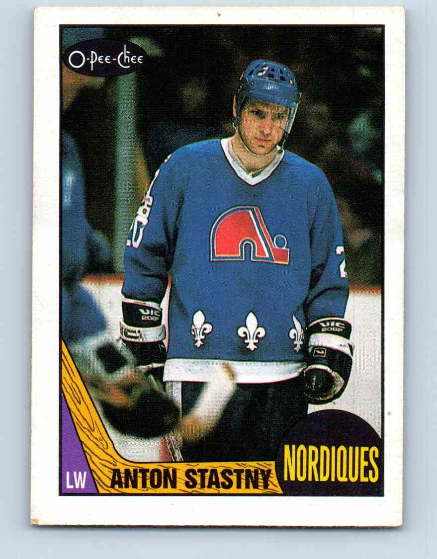 1987-88 O-Pee-Chee Anton Stastny #185 card front image