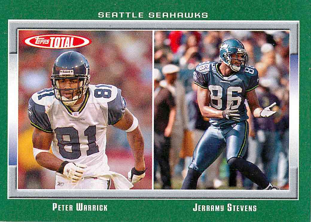 2006 Topps Total Peter Warrick, Jerramy Stevens #305 card front image