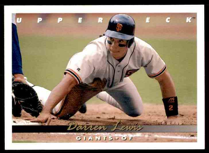 1993 Upper Deck Darren Lewis #173 card front image