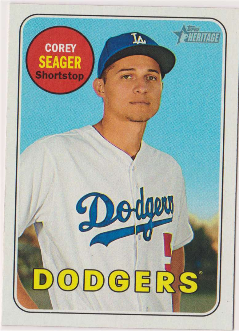 2018 Topps Heritage Corey Seager #45 card front image