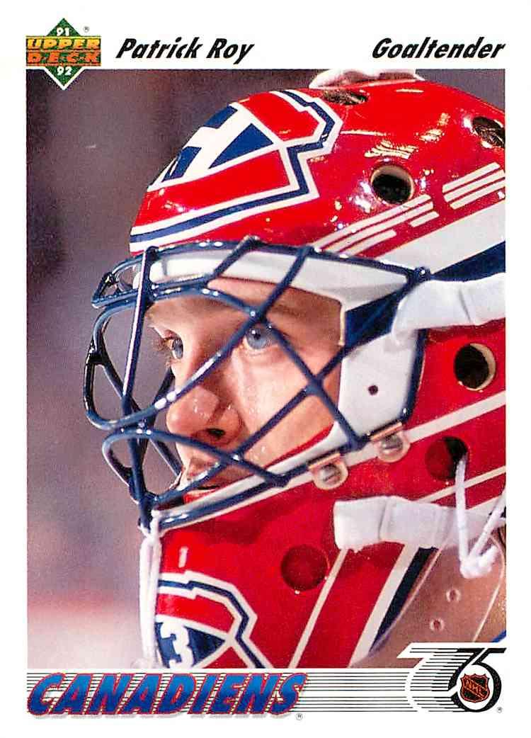 1991-92 Upper Deck Patrick Roy #137 card front image