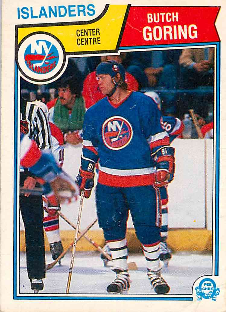 1984-85 O-Pee-Chee Butch Goring #7 card front image