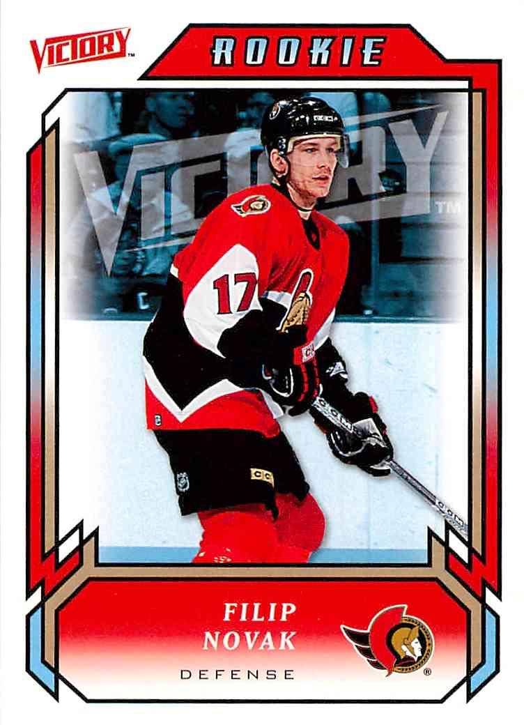 2006-07 Upper Deck Victory Filip Novak #211 card front image