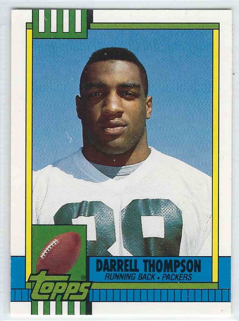 1990 Topps Traded Darrell Thompson #36T card front image
